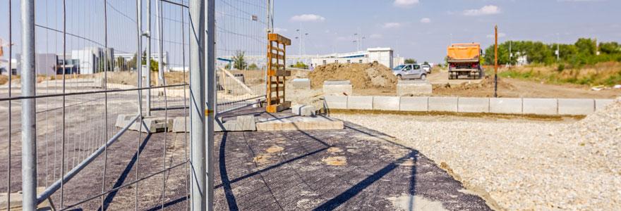 Matériel de protection barrière de chantier