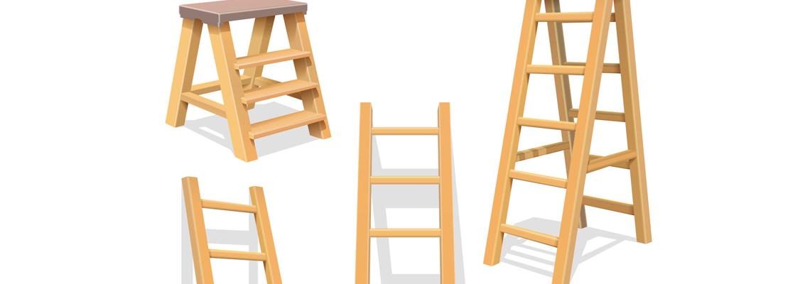 échelle en bois